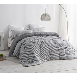 BYB Carbon Stone Grey and White Stripe Comforter