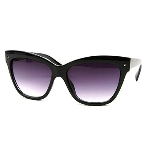 Pop Fashionwear P2169 Women's Black Plastic Cat-eye Fashion Sunglasses