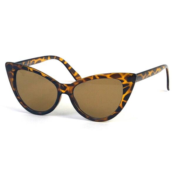 Pop Fashionwear Women's P1413 Retro Vintage-style Cat-eye Frame Sunglasses