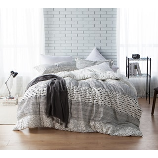 BYB Gradient Block Twin XL-Size Grey Stripe Comforter (Shams Not Included)