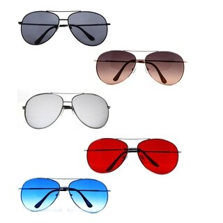 Pop Fashionwear P616 Unisex Metal 61mm Lens Spring Hinge Classic Aviation Style Sunglasses