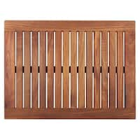 Framed Oiled Teak Wood Shower Mat (23.6 x 17.7)