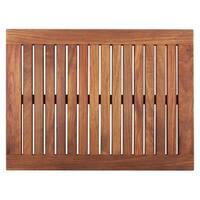 Framed Oiled Teak Wood Shower Mat (23.6 x 17.7)
