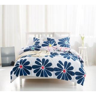 BYB Cobalt Bloom Blue Floral Print Comforter (Shams Not Included) - Blue/White
