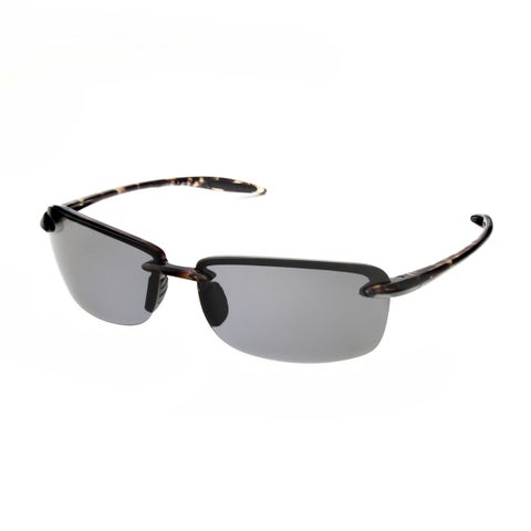 Hot Optix Ultralight Plastic Rimless Unisex Polarized Sunglasses