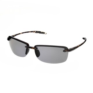 Hot Optix Ultralight Plastic Rimless Unisex Polarized Sunglasses