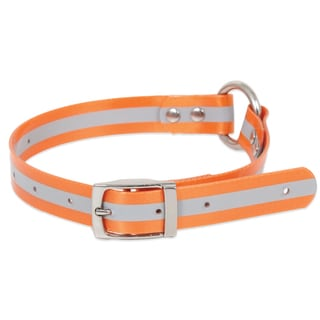 "Petmate 1"" X 14""-22"" TPU Coated Orange Ruff Maxx Dog Collar"