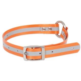 "Petmate 1"" X 14""-22"" TPU Coated Orange Ruff Maxx Dog Collar"
