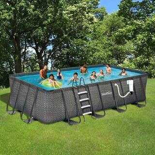 Dark Wicker Summer Waves Elite Rectangular Metal Frame Pool|https://ak1.ostkcdn.com/images/products/14819886/P21336912.jpg?_ostk_perf_=percv&impolicy=medium