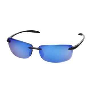 Hot Optix Unisex Ultralight Rimless Polarized Mirrored Lens Sunglasses