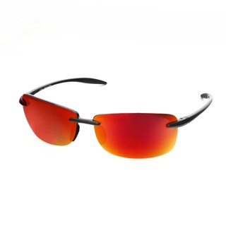 Hot Optix Unisex Ultralight Rimless Polarized Mirrored Lens Sunglasses