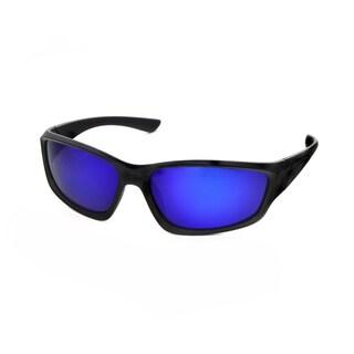 Hot Optix Men's Polarized Sport Wrap Mirrored Lens Sunglasses