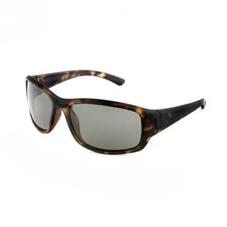 Hot Optix Men's Plastic Large Polarized Wrap-frame Sunglasses