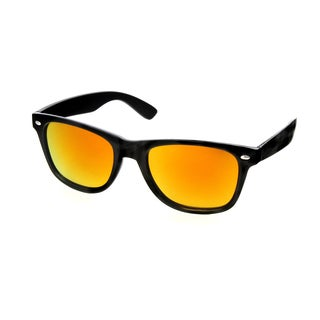 Hot Optix Unisex Black Polarized Mirrored Sunglasses