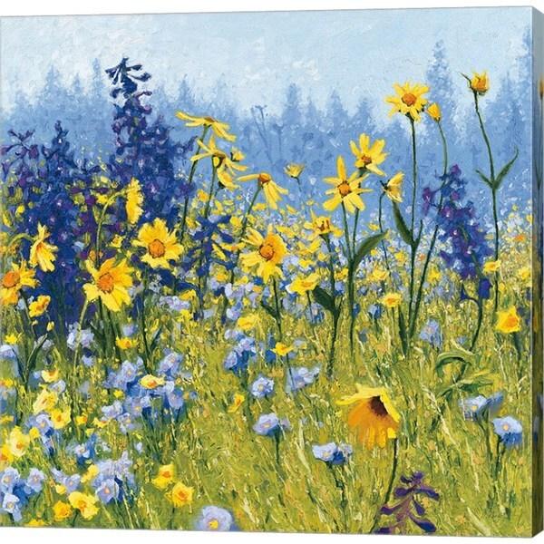 Shirley Novak 'Joyful in July III' Canvas Art