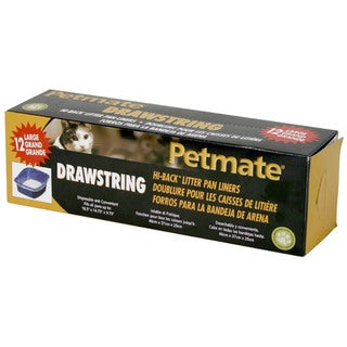 "Petmate 11.9"" X 9"" X 7.5"" Large Hi-Back Deluxe Litter Pan Liners"