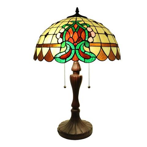 """Janamint 24"""" Tiffany-Style Table Lamp"""