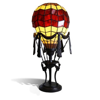 "Liftoff Red 23"" Tiffany-Style Red Balloon Table Lamp"