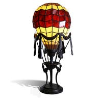 """Liftoff Red 23"""" Tiffany-Style Red Balloon Table Lamp"""