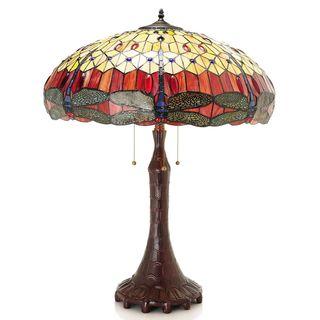 Odona Dragonfly Tiffany-Style Table Lamp