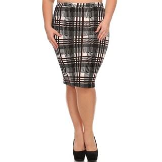 Women's Plus Size Plaid Pencil Skirt