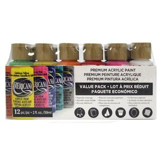 Decoart Americana Acrylic Paint Value Pack 12pc