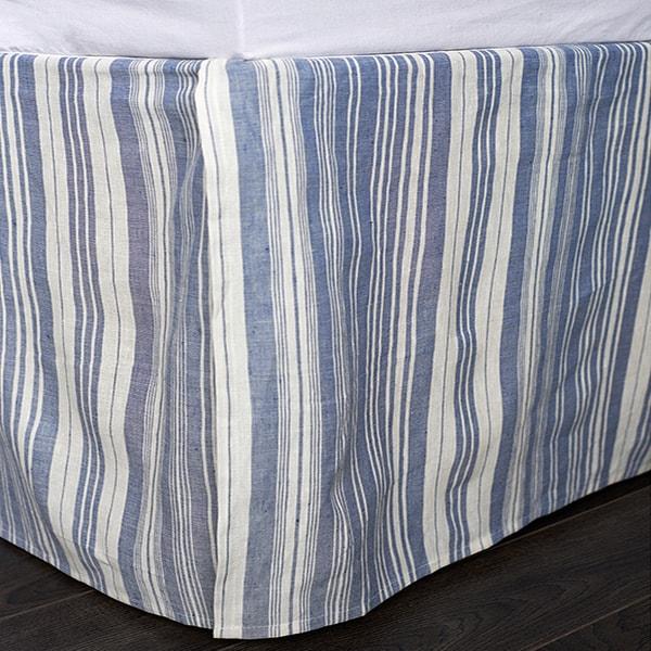 Allen Blue King 18-inch Drop Bed Skirt