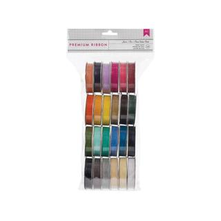 AMC Ribbon Value Pack 24pc Solid Sheer