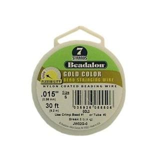 "Beadalon Bead Wire 7Strand .015"" Gold 30'"