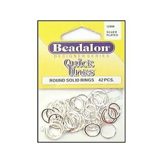 Beadalon QuickLinks Rnd 12mm Silver Plt 42pc