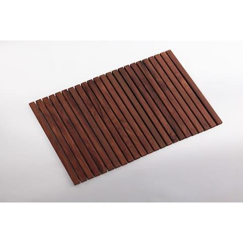 "Premium Oiled Teak Wood String Tile 31.4""x19.6"""