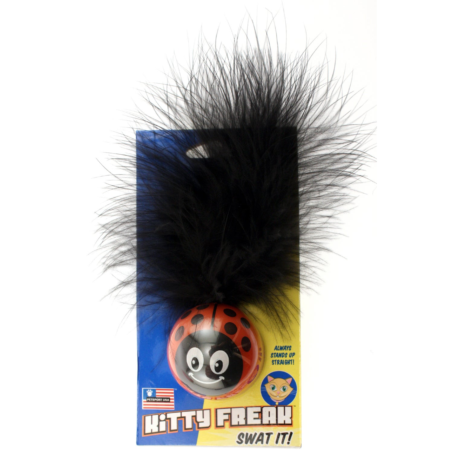Petsport USA Kitty Freak Ladybug Cat Toy (Kitty Freak Lad...