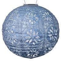 Allsop Soji Stella Metallic Blue Fiber/Steel Boho Globe