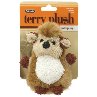 Petmate Terry Plush Hedgehog Catnip Toy