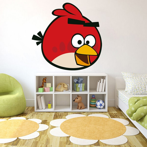 Shop Full Color Angry Birds Game Cartoon Kid Room Full Color Wall