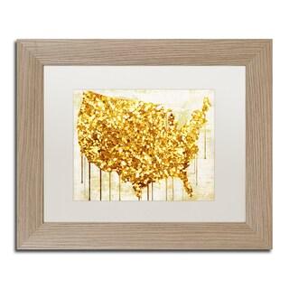 Color Bakery 'American Dream IV' Matted Framed Art