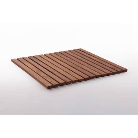 19.6-inch Oiled Teak Wood String Tile