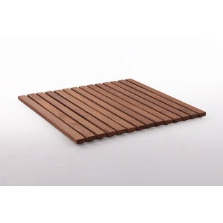 19.6-inch Oiled Teak Wood String Tile