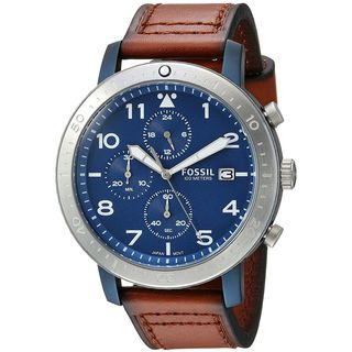 Fossil Men's CH3085 'The Major' Chronograph Brown Leather Watch