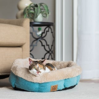 Precision Snoozzy Mod Chic Shearling Round Pet Bed