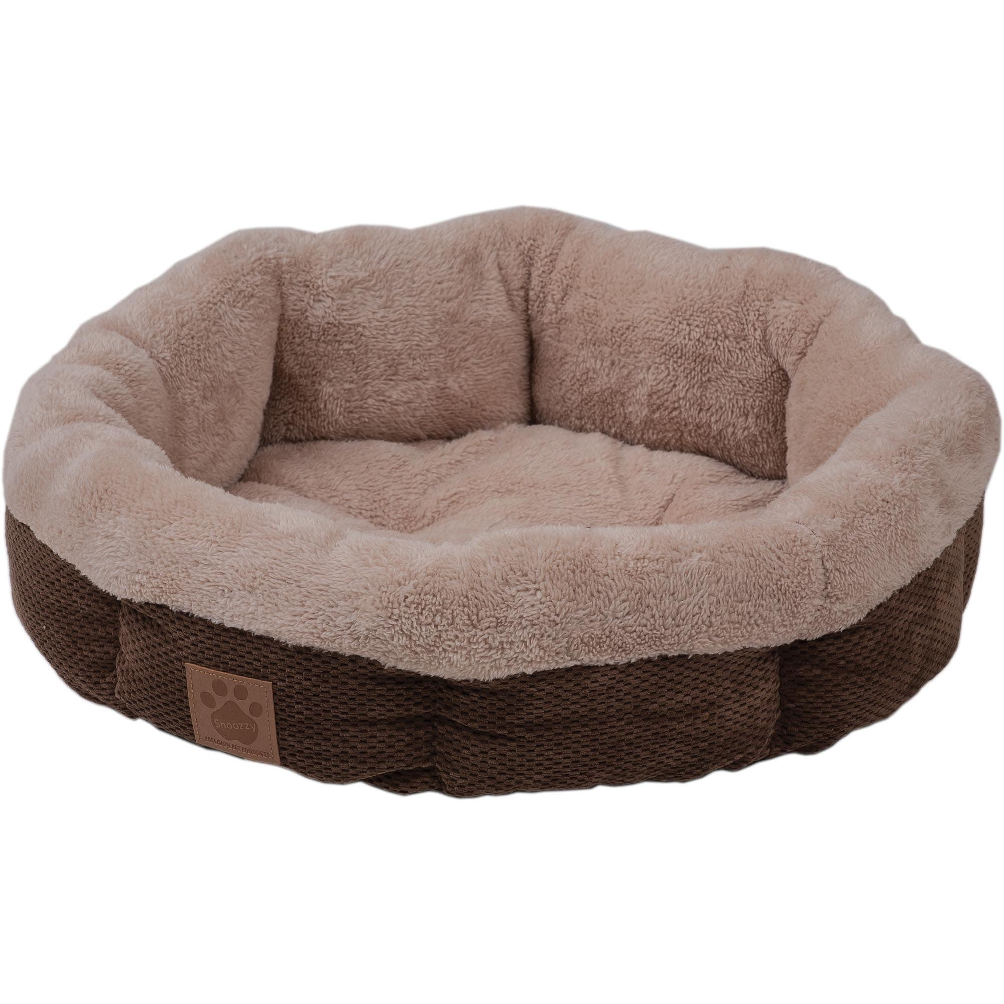 Precision Pet Precision Snoozzy Shearling Round Pet Bed (...