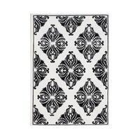 Alliyah Handmade New Zealand Blend Wool Classic White Geometric Rug ( 5' x 8' ) - 5' x 8'