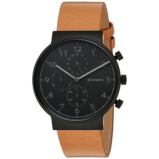 Skagen Men's SKW6359 'Ancher' Chronograph Brown Leather Watch