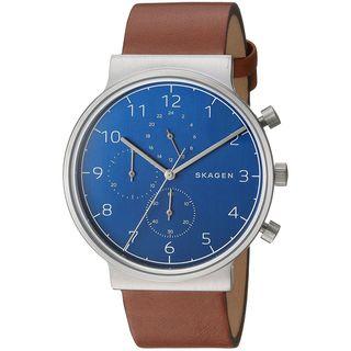 Skagen Men's SKW6358 'Ancher' Chronograph Brown Leather Watch