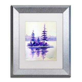 Wendra 'Purple Island' Matted Framed Art