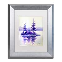 Wendra 'Purple Island' Matted Framed Art