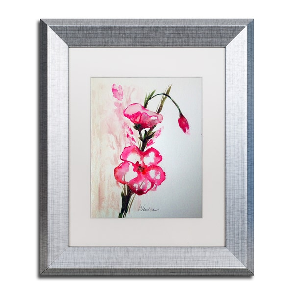 Wendra 'New Bloom' Matted Framed Art - Pink