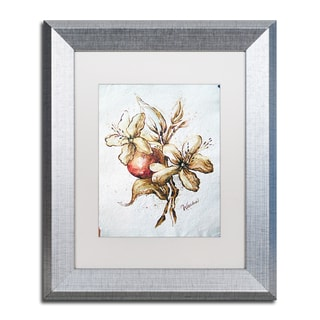 Wendra 'Coffee Flower and Bean' Matted Framed Art