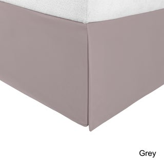 Superior Infinity Wrinkle Resistant 15-inch Drop Bed Skirt (Option: Queen - Grey)