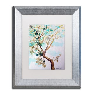 Wendra 'Blue Maple' Matted Framed Art